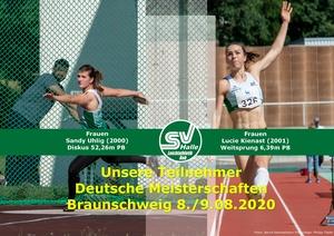 Teilnehmer DM Braunschweig Sandy Uhilg und Lucie Kienast